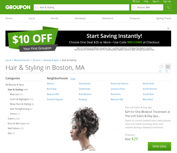 boston hair salons groupon