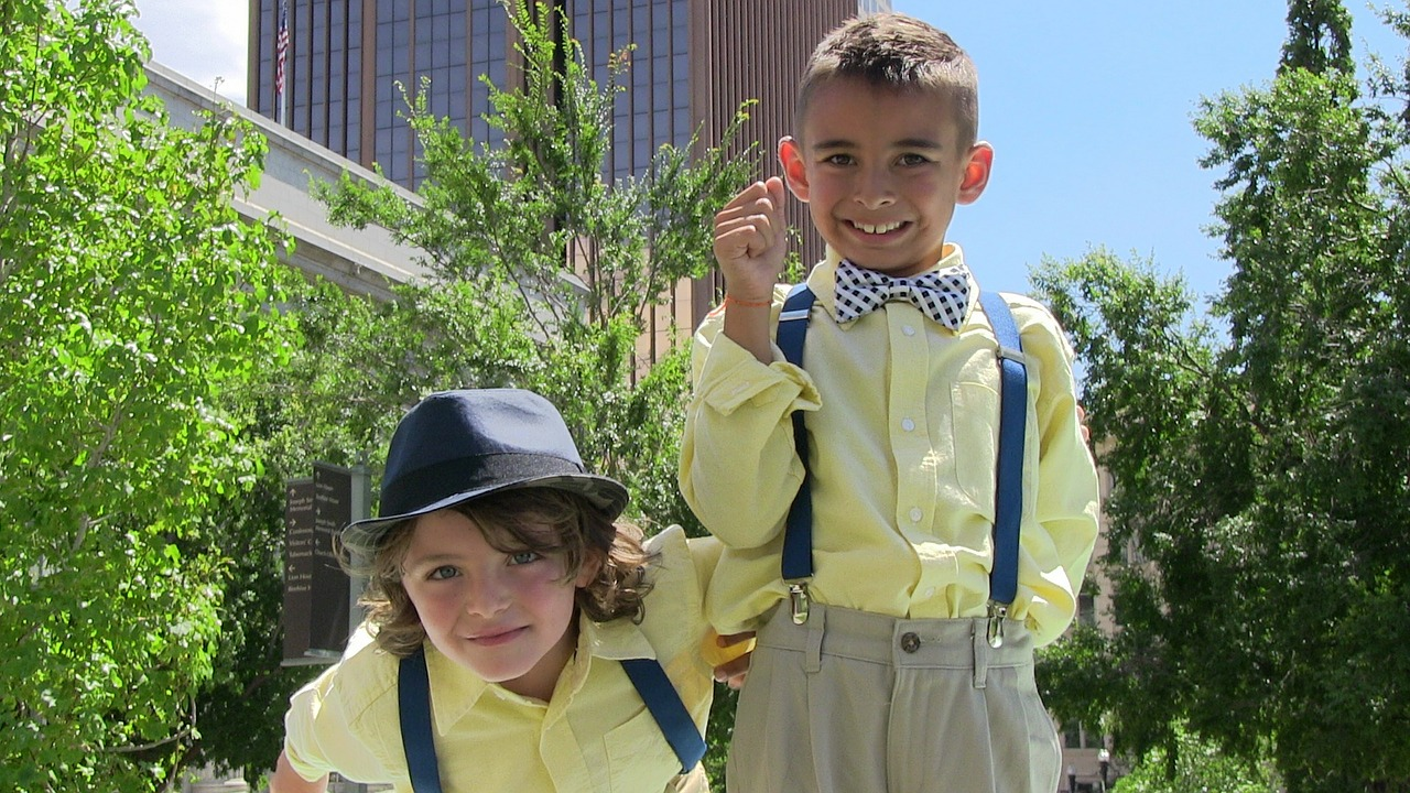 Buying kids clothes online can get yours looking like these sharp guys